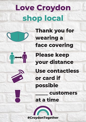 "Image of the ""Love Croydon - Shop Local"" poster."